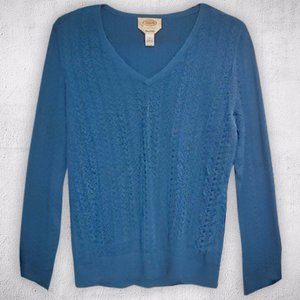 Talbots Pima Cotton V-Neck Sweater